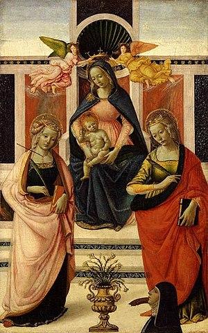 Davide Ghirlandaio - Image: David ghirlandaio, madonna tra le sante orsola e caterina d'alessandria