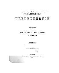 Wirtembergisches Urkundenbuch, Band 3