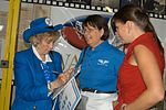 Deanie Parrish signs an autograph inside the new National WASP World War II Museum.JPG