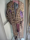 "Debbie Reynolds Auction - Rudolph Valentino as ""Juan Gallardo"" Suit of Lights matador outfit from ""Blood and Sand"" (1922) (5852147966).jpg"