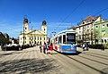 Debrecen KCSV6 504 villamos Kossuth tér Nagytemplom.jpg