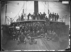 Staten Island Ferry - Hunchback (1852) on the James River in Virginia during the Civil War