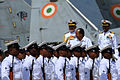 Defence Minister AK Antony inspecting a guard of honour on arrival at INS Hansa (2).jpg