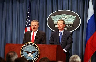 Donald Rumsfeld with Russian Minister of Defense Sergei Ivanov on March 13, 2002 Defense.gov News Photo 020313-D-2987S-016.jpg