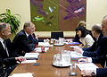 Defense.gov News Photo 100614-D-7203C-004 - Deputy Secretary of Defense William J. Lynn III meets with National Security Advisor Marie-Lucie Morin in Ottawa, Canada, on June 14, 2010.jpg