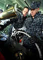 Defense.gov News Photo 110113-N-3857R-002 - U.S. Navy Seaman Apprentice Jacob Horsch right assigned to Yard Patrol Operations at the U.S. Naval Academy receives instruction from Petty.jpg