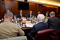 Defense.gov News Photo 110502-D-XH843-006 - Secretary of Veterans Affairs Eric K. Shinseki meets with Secretary of Defense Robert M. Gates 2nd from right Vice Chairman of the Joint Chiefs.jpg