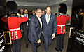 Defense.gov News Photo 120327-D-NI589-221 - Secretary of Defense Leon E. Panetta is greeted by Canadian Minister of National Defense Peter MacKay as he arrives for trilateral meetings with.jpg