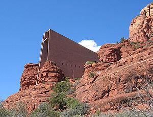 Chapel of the Holy Cross (Sedona, Arizona) - Image: Dengler SW CHC Sedona 20050329 1050x 800