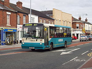 Duple Dartline - An ex-R&I Tours Dartline in service with Arriva North West in Crewe.