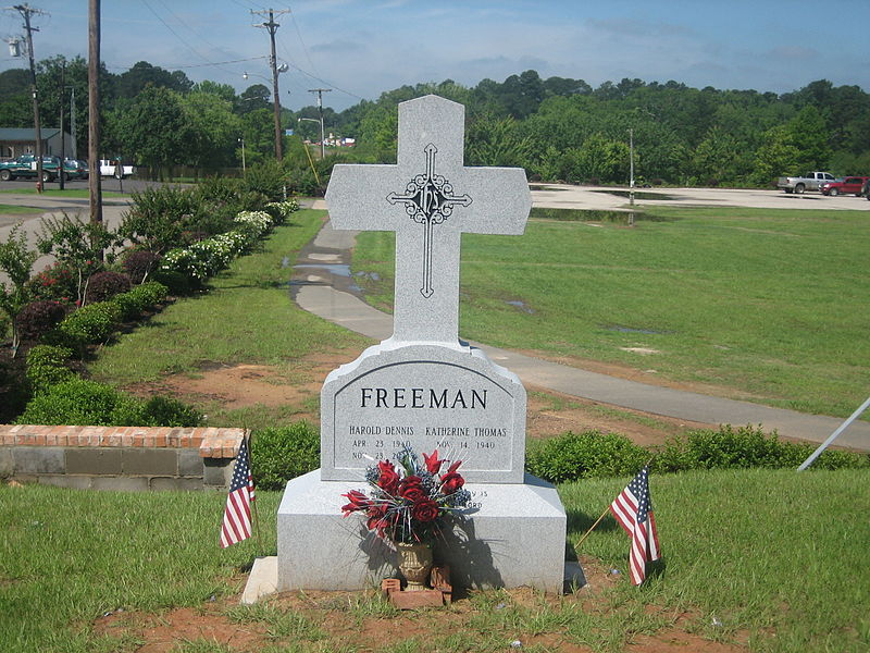 File:Dennis Freeman grave, Logansport, LA IMG 0943.JPG