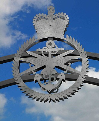 Armed Forces Day (United Kingdom) - Detail of armed services memorial gate, Cleethorpes