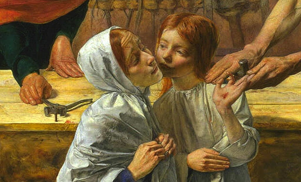Detail of JE Millais - Christ in the House of His Parents (`The Carpenter's Shop')