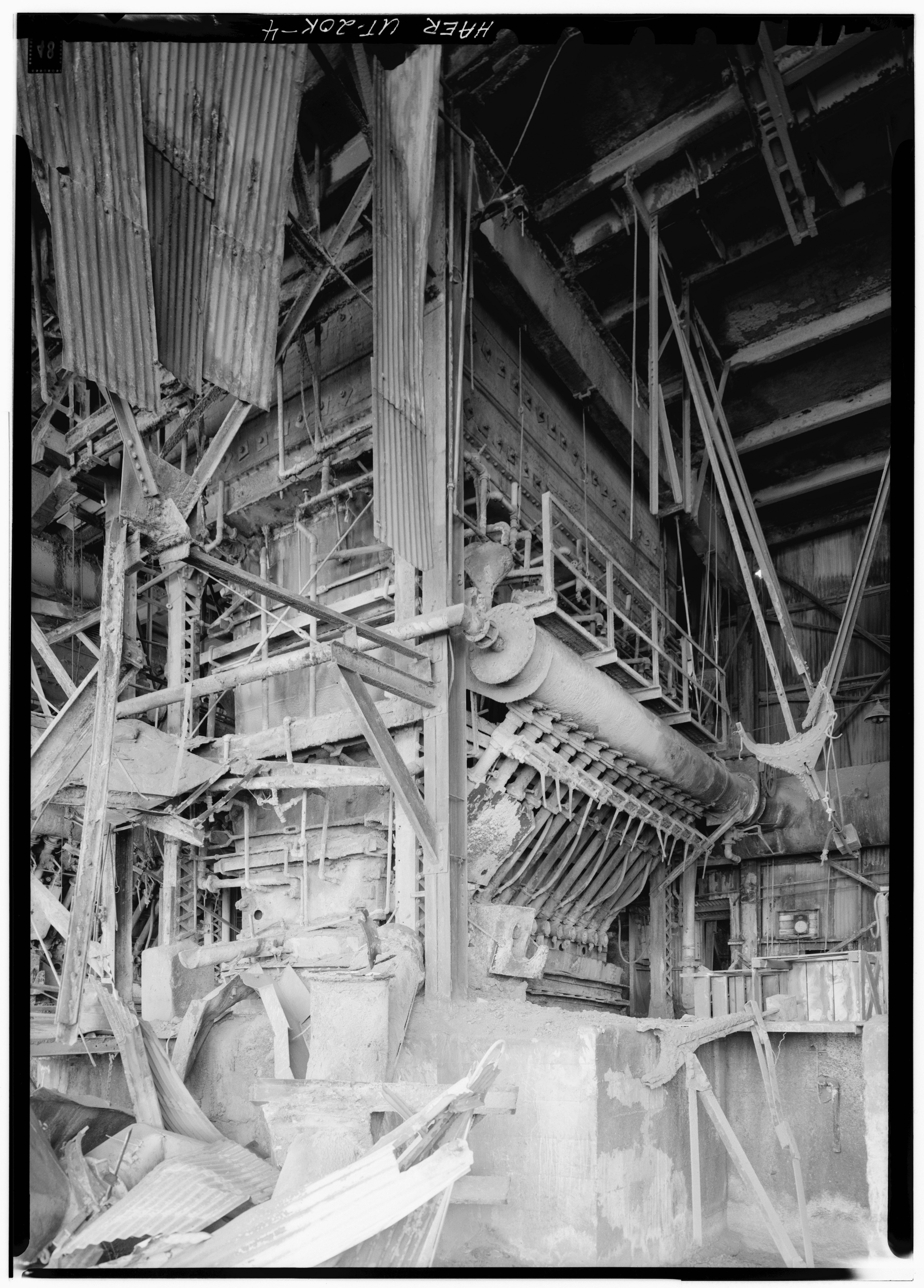 Blast Furnace Construction : File detail view of blast furnace showing tuyers
