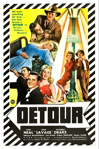Detour (1945 film) - theatrical release poster