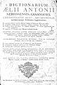 Dictionarium Aelii Antonii Nebrisensis 1764 tp01.jpg