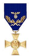 Kruis voor 40 jaar dienst uit 1939
