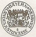 Dienstsiegel der Landesjustizkasse Bamberg (Druck).jpg