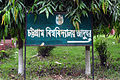 Directional road sign of Chittagong University Museum (01).jpg