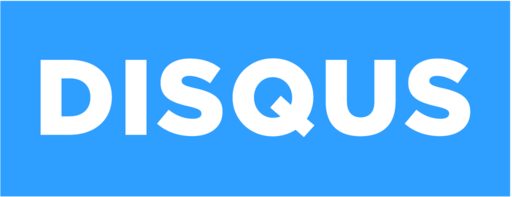 Disqus logo - white on blue background 1024x394