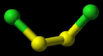 Disulfide - Image: Disulfur dichloride 3D balls