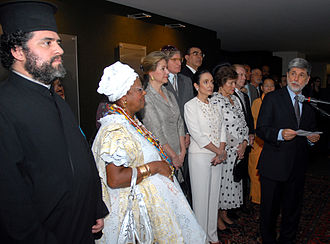 Religion in Brazil - People during the Diversidade Religiosa no Brasil (Religious Diversity in Brazil) reunion.