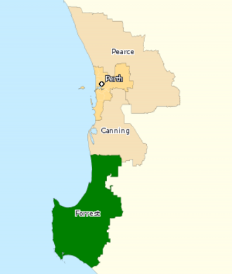 Division of Forrest - Division of Forrest in Western Australia, as of the 2016 federal election.