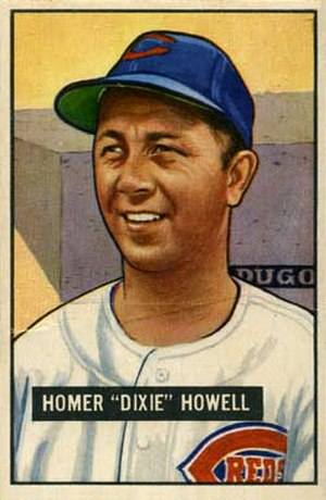 Dixie Howell (catcher) - Image: Dixie Howell 1951