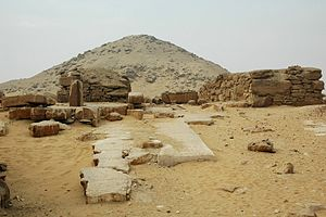 Djedkare Isesi - The pyramid of Djedkare in Saqqara