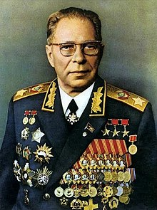 Colonel General of the Engineering and Artillery Service Hero of Socialist Labor Dmitry Fedorovich Ustinov