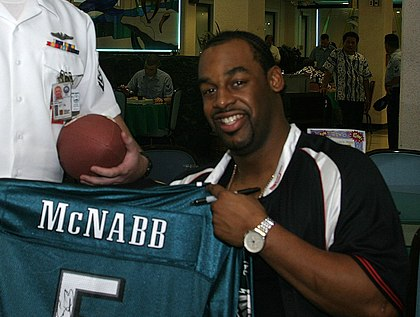 Donovan McNabb, Eagles quarterback from 1999 to 2009 Donovan McNabb.jpg