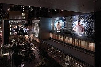 Doug Aitken - Aitken's Sleepwalkers displayed at the Museum of Modern Art 2007