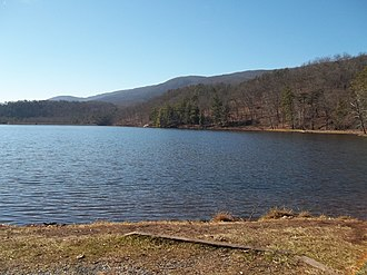 Douthat State Park - Image: Douthat State Park Virginia lake view 2