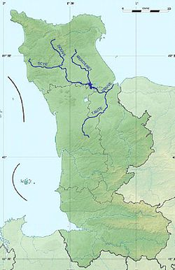 Карта басейну річку дув