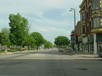 Janesville, Wisconsin - Downtown Janesville looking south on Main Street (2004)