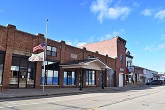 Wenona, Illinois - Downtown Wenona, including its municipal building