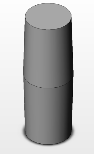 Draft (engineering) - A cylinder with longitudinal draft