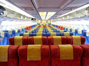 Airbus A330 - A330-300 interior, economy class