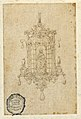 Drawing, Design for a Pendant with Sitting Woman with Book, 16th century (CH 18128651).jpg