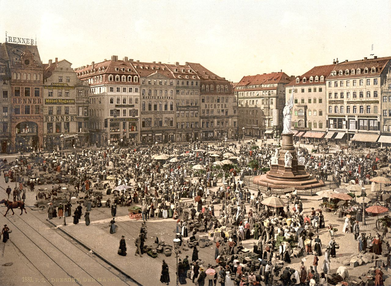 Altmarkt in Dresden 1881