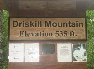 Driskill Mountain - Location of logbook at top of Mount Driskill