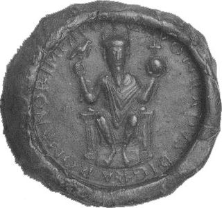 Third imperial seal of Konrad II with the so-called eagle scepter
