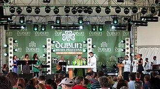Dublin Irish Festival - A Roman Catholic Mass being celebrated at the 2015 Dublin Irish Festival.
