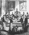 Duchesne de Bellecourt remitting the ratified France Japan Treaty to the Shogun in 1859.jpg