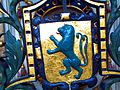 Dudley Knollys tomb lion Warwick St Marys.JPG