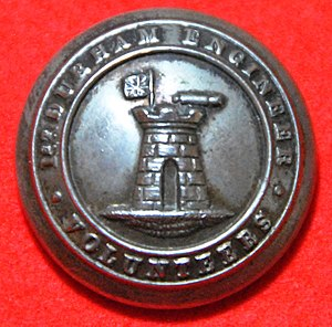 1st Durham Engineers - Tunic button of the 1st Durham Engineer Volunteers