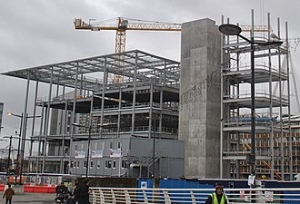 BBC Wales headquarters building - Image: During the construction of BBC Wales HQ