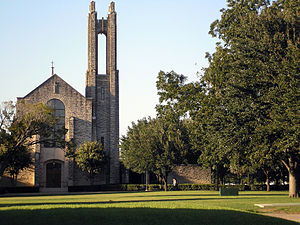 Southwestern University - The Lois Perkins Chapel situated along the Academic Mall