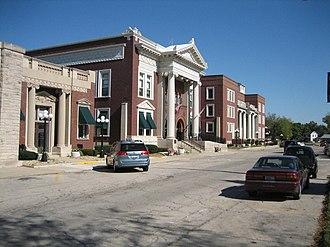 Dwight, Illinois - Buildings in downtown Dwight