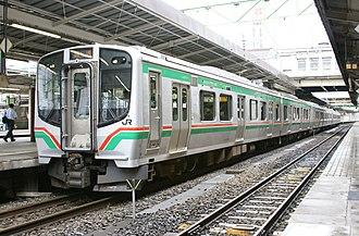 Ban'etsu West Line - Image: E721 P25 Sendai 20080726